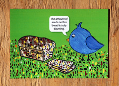 IMG_1399 (keila.dubois) Tags: bird postcard card greeting animals birds animal art artwork design digital print