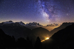 The Cosmic Voyage (TeeJay_S) Tags: nighttime milkyway stars night montblanc france frenchalps alps rhonealpes adventure amazing beautiful canon colorful canon6d discover explore getoutside landscape ngc mountains nature chamonix outdoors