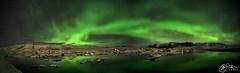 Aurora Borealis above Jökulsárlón (►►M J Turner Photography ◄◄) Tags: borealis auroraborealis jökulsárlón iceland southiceland glacier lagoon glacierlagoon ice snow norðurljós ísland