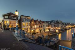 Veerstraat, Maassluis - The Netherlands (Dennis van Dijk) Tags: gracht canal veerstraat sluis maassluis blue hour sunset old oud haven harbor holland