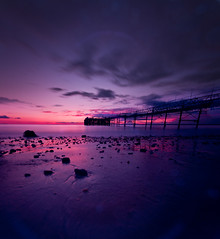 30 seconds later at Totland Bay (s0ulsurfing) Tags: ocean uk longexposure blue sea england sky cloud english praia beach nature water clouds composition canon flow island photography bay coast pier mar scenery skies natural britain wide shoreline blues wideangle coastal photograph shore vectis isleofwight april vista coastline british isle groyne channel englishchannel wight 2012 lamanche 10mm totland sigma1020 totlandbay s0ulsurfing coastuk vertorama