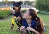 adored (Laurarama) Tags: flowers dog pet love yellow outdoors child open friendship rosie bean shade apr odc fortheloveofdog laurarama