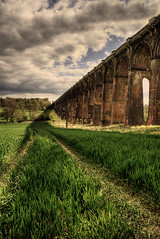 The Shadow of a Bridge (Steve's Photography :-)) Tags: bridge field train nikon haywardsheath meadow structure d200 hdr balcombe ousevalleyviaduct steveclancy