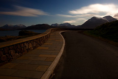 View from Raasay (Boyd Hunt) Tags: longexposure sea sky snow mountains skye wall night canon island scotland highlands pavement cuillins raasay