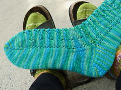 Anime On Hold Sock #1 Foot (DrMarta) Tags: sock knit onhold wendyjohnson animeonholdsock1 shibuianime