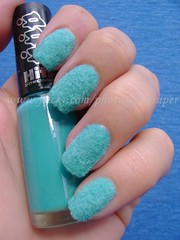 Turquoise Plush Nails (Eva Super) Tags: turquoise plush nails hits mabi peludinha plushnails unhapeludinha unhapelcia
