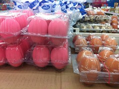 Pink eggs anyone? (Ros in wonderland) Tags: food thailand supermarket eggs thaifood colouredeggs pinkeggs eatinginthailand uploaded:by=flickrmobile flickriosapp:filter=nofilter foodwhiletravelling