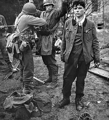 German POWS - Germany 1945 (Krueger Waffen) Tags: history infantry germany soldier army war military thirdreich wwii battle 1940s german ww2 fighting pow 1945 heer secondworldwar worldwartwo warfare wehrmacht germansoldier