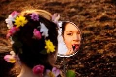 Mirror girl (martin.bizik) Tags: flower girl hair mirror lip lipstick