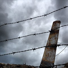 #barbwire #fence #clouds #cloudporn #nofilter #iphone #instamood (Thomas Pleil) Tags: clouds fence barbwire cloudporn nofilter iphone instamood