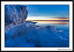 Early Color at Brighton Beach (Ben Podolak) Tags: ice mn duluth lakesuperior