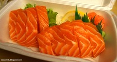 Salmon Sashimi at Sushi California (deeeelish) Tags: sashimi salmon