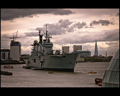 Illustrious Spectacle (flipr.uno) Tags: uk sky london thames clouds greenwich battleship illustrious hms hmsillustrious