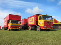 Jolly Good Show (Lady Wulfrun) Tags: red yellow truck circus lorry erf 1970s lorries forddseries peterjolly jolly39scircus lgh976n