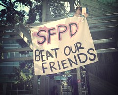 #SFPD beat our friends @sfsu #sfc5 #sfcommune #sfsu #ftp #osf #oo #ows (Steve Rhodes) Tags: oo sfsu sfpd ftp ows osf malcolmxplaza sfc5 sfcommune uploaded:by=flickrmobile flickriosapp:filter=mammoth mammothfilter