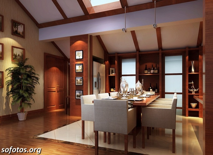 Salas de jantar decoradas (60)