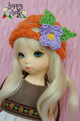 Flor lila (Craia) Tags: hat happy doll handmade leah crochet hats kawaii bjd knitted fairyland unoa ganchillo gorrito yosd littlefee