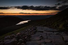 Halfway Lochan at midnight (Roksoff) Tags: sunset summer sky scotland highlands nikon ben scottish glen midnight 24mm northern footpath nevis lochaber