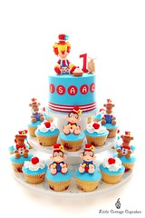 My Little Man's 1st Birthday! (Little Cottage Cupcakes) Tags: birthday tower cake cupcakes circus clown bears lion monkeys 1stbirthday fondant sugarpaste boybirthday littlecottagecupcakes
