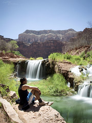Natural thinking... (Benji P. Photo) Tags: usa west nature water long exposure natural indian think canyon waterfalls havasu supai havasupai peacefull reserv