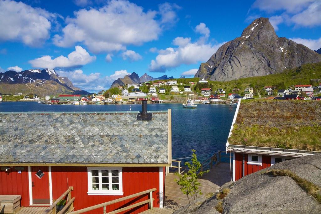 Norwegian fishing town