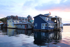 Victoria Float Homes (dennoit) Tags: sunset house canada home night houseboat victoria clear vancouverisland fishermanswharf float floathome