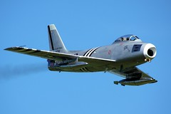 F86A Sabre - Shuttleworth Military Pageant June 2013 (Airwolfhound) Tags: military sabre pageant shuttleworth f86a