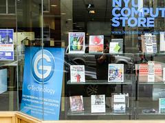 Making Things Move (wwward0) Tags: nyc window book store manhattan storefront nyu dustynroberts
