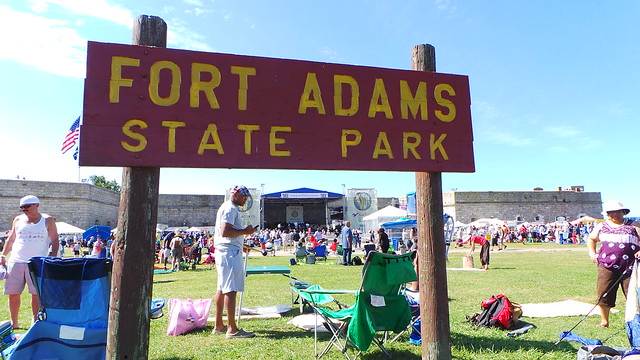 Fort Adams State Park sign at Newport Jazz Festival 2013