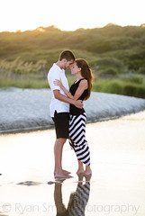 Couple standing together in the sunset (Ryan Smith Photography) Tags: myrtlebeach engagement couple romantic engagementportraits ryansmithphotography httpwwwmyrtlebeachphotographyorg