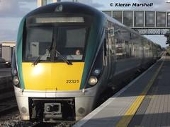 22021 arrives at Portlaoise, 31/8/13 (hurricanemk1c) Tags: irish train rail railway trains railways irishrail rok rotem portlaoise icr iarnród 2013 22000 22021 éireann iarnródéireann 3pce 1720heustonportlaoise