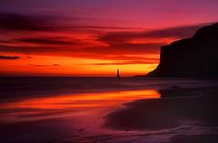 Orange Margarita (Alan MacKenzie) Tags: sunset film sussex velvia eastbourne eastsussex southdowns beachyhead fujivelvia