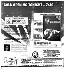 Fox Movie Theater  Opening ad 1969 albany ny 1960s (albany group archive) Tags: old albany ny historic vintage photo 1969 late 1960s fox colonie movie theater wolf road kirk douglas brotherhood oldalbany history
