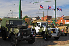 Army Landrovers (David Chennell - DavidC.Photography) Tags: army military birkenhead landrover woodside wirral militaryvehicles wirraltrambusfestival