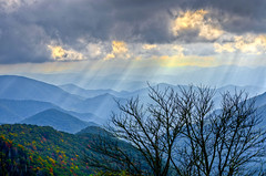 Blue Ridge Rays (Bradley Nash Burgess) Tags: light sun mountain mountains clouds nc nikon raw rays sunrays hdr blueridgeparkway sunray blueridge lightroom wnc westernnc westernnorthcarolina photomatix d7000 nikond7000