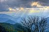 Blue Ridge Rays (Bradley Nash Burgess) Tags: light sun mountain mountains clouds nc nikon raw rays sunrays hdr blueridgeparkway sunray blueridge lightroom wnc westernnc westernnorthcarolina photomatix d7000 nikond7000