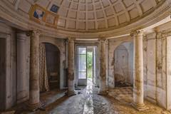 Four Columns (klickertrigger) Tags: door summer sun abandoned architecture decay columns indoor column dust stefandietze