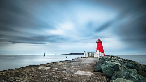 Poolbegh lighthouse, Dublin, Ireland - Seascape photography