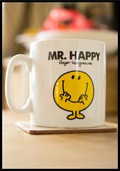 52 Weeks of Pix 2015: Smile (GadgetHead) Tags: smile nikon dof bokeh mug mrhappy 40mm ironic aspirational 2015 week20 2052 d3100 nikond3100 afsdxmicronikkor40mmf28g 52weeks2015 52weeksofpix2015