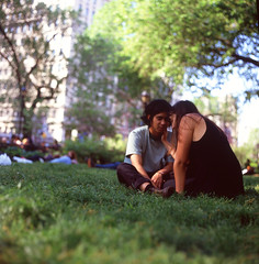 Intimate-moment (josh.pomponio) Tags: street new york city nyc 120 film mediumformat photography slide transparency medium format 88 kiev
