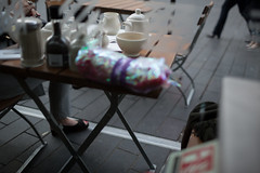 (ziemowit.maj) Tags: detail london scarf angle streetphotography outoffocus southbank teapot caffee rednails centrallondon urbanfragment greysuit olderlady ef35mmf14l canon5dmkiii colourfulpackage restaurantoutsidetable