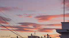 pink clouds (thevideowoman) Tags: clouds pinkclouds sky viewfromwindow nature