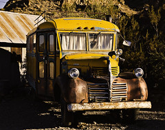 02469315-81-Rusty Yellow School Bus-1 (Jim There's things half in shadow and in light) Tags: schoolbus rusty transportation 2016 america canon5dmarkiv clarkcountyheritagemuseum eldoradocanyon mojavedesert nevada oct places sigma24105mmf4dg usa fall
