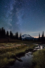 Close of the Season (Heather Smith Photography) Tags: stars night mountain milkyway tipso astrophotography lake laketipso mtrainier sony alpha a7rii zeiss21mm nightphotography nightsky longexposure mt rainier