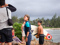 Shool's In (Jon Wojan) Tags: surf surfers surfing northshore oahu turtlebay turtlebayresort children learning lesson lessons instruction admiration surfboard people sport sports ocano rider swell spray tropic tropics tropical pacific vacation