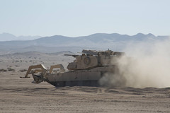 Engineer Breach (pao3abct) Tags: 3rdarmoredbrigadecombatteam 3abct 4thinfantrydivision 4id 410cav 166armorregiment 168armor abrams tank bradley ntc national training center fortirwin nationaltrainingcenter army fortcarson