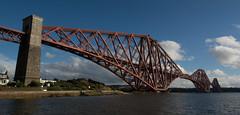 Forth Rail Bridge #2 (Claire Stones) Tags: forthrailwaybridge october nikon bluesky red firthofforth forthrailbridge scotland forth
