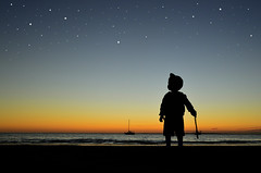 Every Dream Begins With A Dreamer (amber654) Tags: australia queensland fraserisland sunset sundown evening glow stars sky dream child boy galaxy space skyatnight shadow silhouette dreamer awe wonder nikon d3200 18200 nikond3200
