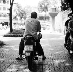 Waiting for my next trip (mteckes) Tags: hasselblad 500c bw kodak kodaktrix trix ziessplanar80mm28 zeiss saigon hochiminhcity vietnam film blackandwhite monochrome