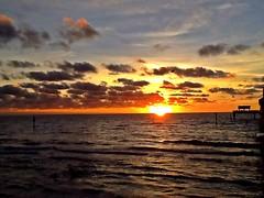 """ Captivating Moment "" (ColFineArtistMar1) Tags: ocean beach clearwater florida usa sunset moment colors autumn water sun clouds sky photograph pier artistic art"